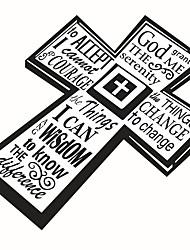 Недорогие -Геометрия Слова и фразы Наклейки Простые наклейки Декоративные наклейки на стены, Винил Украшение дома Наклейка на стену Окно Стена