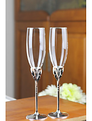cheap -Glass Zinc Alloy Toasting Flutes Gift Box People Wedding All Seasons
