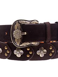baratos -Casual couro legítimo Cinto para a Cintura Preto Vermelho Bege Amarelo Castanho Claro