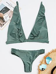 baratos -Mulheres Nadador Biquíni - Sólido