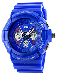 Недорогие -SKMEI Для пары Спортивные часы Цифровой 50 m Защита от влаги Календарь Хронометр PU Группа Аналого-цифровые Роскошь На каждый день Мода Черный / Белый / Красный - Пурпурный Зеленый Синий