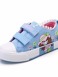 cheap -Girls' Shoes Canvas Spring / Fall Comfort Sneakers for Red / Blue / Pink