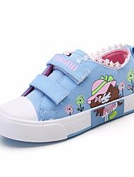 preiswerte -Mädchen Schuhe Leinwand Frühling / Herbst Komfort Sneakers für Rot / Blau / Rosa