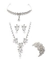 economico -Per donna I monili nuziali Gioielli per fronte Strass Diamanti d'imitazione Lega Di forma geometrica Farfalla Di tendenza Europeo