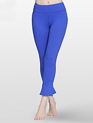 baratos -Mulheres Calças de Corrida - Preto, Verde, Azul Esportes Sólido Meia-calça Tamanhos Grandes Roupas Esportivas Respirabilidade