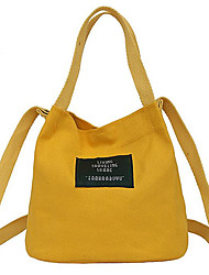 cheap -Women's Bags Canvas Tote Appliques Red / Blushing Pink / Yellow