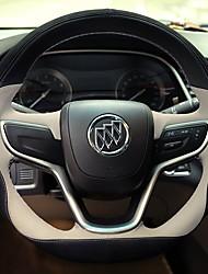 baratos -Capas para Volante couro legítimo 38cm Vermelho / Bege / Preto / Vermelho For Buick Encore / Excelle XT / Excelle GT Todos os Anos