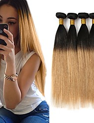 cheap -Brazilian Hair Straight Human Hair Weaves 3pcs Hot Sale