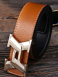 cheap -Genuine Leather Waist Belt,White Black Light Brown Casual