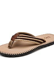 Недорогие -обувь Ткань Лето Удобная обувь Тапочки и Шлепанцы для Повседневные на открытом воздухе Черный Серый Хаки Вино