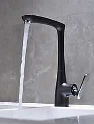 baratos -Clássica bico padrão Conjunto Central Separada Válvula Cerâmica Monocomando e Uma Abertura Bronze Polido a Óleo, Torneira de Cozinha