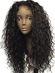 cheap -Human Hair Full Lace Wig Brazilian Hair Curly Jerry Curl With Baby Hair 130% Density Unprocessed 100% Virgin Natural Hairline Medium Long