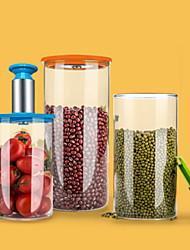 baratos -Vidro Fácil Uso Armazenamento de alimentos 4pçs Organização de cozinha