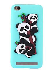 abordables -Funda Para Xiaomi Redmi 5A Redmi 4a Diseños Funda Trasera Oso Panda Suave TPU para Redmi Note 5A Redmi 5A Xiaomi Redmi 4A