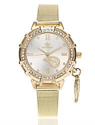 Недорогие -Жен. Наручные часы Китайский Имитация Алмазный сплав Группа Листья / На каждый день / Мода Золотистый