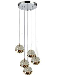 abordables -QIHengZhaoMing 5-luz Lámparas Colgantes Luz Ambiente - Protección para los Ojos, 110-120V / 220-240V, Blanco Cálido, Bombilla incluida