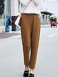 cheap -Women's Plus Size Denim Wide Leg Pants - Solid Colored Artistic Style