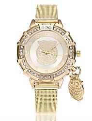 abordables -Mujer Reloj de Pulsera Chino La imitación de diamante Aleación Banda Casual / Moda Dorado