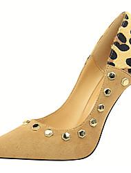preiswerte -Damen Schuhe Pelz Frühling Herbst Gladiator Pumps High Heels Stöckelabsatz für Kleid Party & Festivität Schwarz Grau Rot Mandelfarben