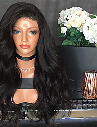 cheap -Human Hair Lace Front Wig / Glueless Lace Front Wig Peruvian Hair Wavy 150% Density Natural Hairline Short / Medium Length / Long Human Hair Lace Wig
