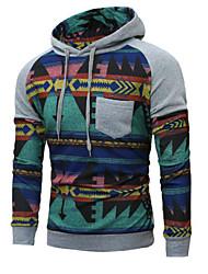 cheap -Men's Long Sleeves Hoodie Print Hooded