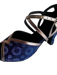 abordables -Chaussures Latines Synthétique Talon Talon Personnalisé Personnalisables Chaussures de danse Bleu