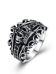 preiswerte -Herrn überdimensional Edelstahl Kronenform Statement-Ring - Kronenform Zeichentrick / überdimensional / Modisch Silber Ring Für Zeremonie