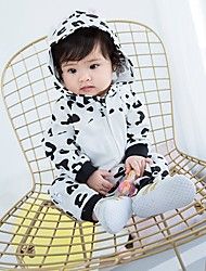 cheap -Girls' Leopard Sleepwear,Cotton Long Sleeves Cartoon White