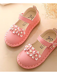 cheap -Girls' Shoes PU Spring Fall Flower Girl Shoes Comfort Flats for Casual White Red Pink