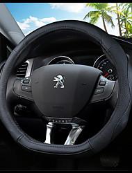 Недорогие -Чехлы на руль Настоящая кожа 38 см Синий / Черный / Черный / Красный For Peugeot 308 2012 / 2013 / 2014