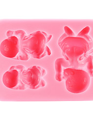 cheap -Bakeware tools Silicone Eco-friendly / Thanksgiving / DIY For Cake / For Cookie / For Chocolate Sleeping Baby Mold 1pc