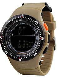 baratos -SKMEI Casal Relógio Esportivo Chinês Calendário / Impermeável / Cronômetro PU Banda Luxo / Casual / Fashion Preta / Cinza / Cáqui / Noctilucente