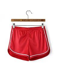baratos -Mulheres Shorts de Corrida - Preto, Vermelho, Azul Esportes Calças Roupas Esportivas Secagem Rápida, Respirabilidade
