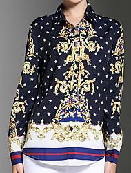 cheap -Women's Casual Shirt - Plaid Print Shirt Collar