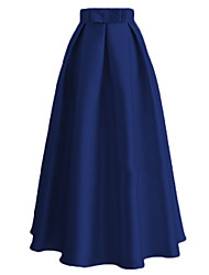 cheap -Skirt Women's Festival / Holiday Halloween Costumes Blue / Pink / Red Solid Colored Ethnic / Fashion