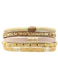 cheap -Women's Wrap Bracelet , Asian Casual Leather , Jewelry Daily Going out Costume Jewelry Light Yellow