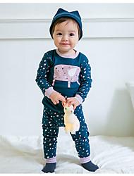 cheap -Boys' Simple Sleepwear, Cotton Long Sleeves Ordinary Blue Black