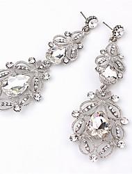 economico -Per donna Cristallo Orecchini a goccia - Cristallo, Diamanti d'imitazione goccia Di tendenza Bianco / Blu Per Quotidiano / Per uscire