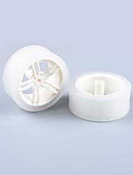 baratos -Caranguejo Kingdom® diy peças de carro educativo carro roda tt pneu motor 1pcs branco e transparente # 5