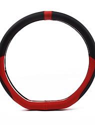 Недорогие -Чехлы на руль Настоящая кожа 38 см Черный / Черный / Красный / Черный / Белый For Volvo S90 / S80 / V40 Все года