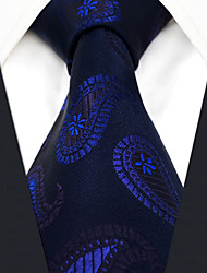 cheap -Men's Party Work Rayon Necktie - Paisley Jacquard