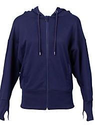 Недорогие -Жен. Куртка для бега Длинный рукав Воздухопроницаемость Толстовка Верхняя часть для Бег Нейлон Синий Розовый S M L