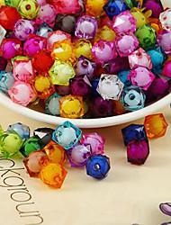 cheap -DIY Jewelry 500 pcs Beads Acrylic Rainbow Square Bead 1 cm DIY Necklace Bracelet
