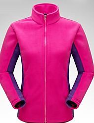 cheap -Women's Hiking Fleece Jacket Outdoor Winter Keep Warm Top Single Slider Fishing Casual Running