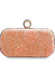 cheap -Women's Bags Polyester Evening Bag Buttons / Lace / Flower Blue / Blushing Pink