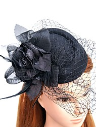 cheap -Feather Net Fascinators Hats with Feathers / Fur 1pc Wedding Special Occasion Headpiece