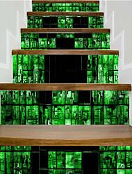Недорогие -Геометрия ботанический Наклейки Корпус Простые наклейки 3D наклейки Декоративные наклейки на стены Свадебные наклейки, Винил Бумага
