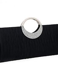 cheap -Women Bags PU Evening Bag Crystal Detailing Zipper for Casual All Season Almond Red Black White Blue