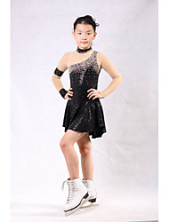 economico -Vestito da pattinaggio artistico Per donna Da ragazza Pattinaggio sul ghiaccio Vestiti Elastene Con diamantini Paillettes Elevata