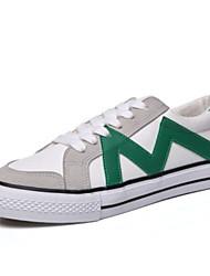 Недорогие -Жен. Обувь Полотно Лето Удобная обувь Кеды На плоской подошве Закрытый мыс для Повседневные на открытом воздухе Черный Зеленый